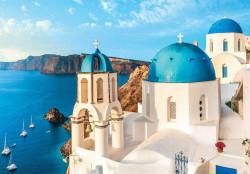 Wallpaper church in Greece - 13985