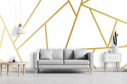 White stone effect wallpaper - 13558