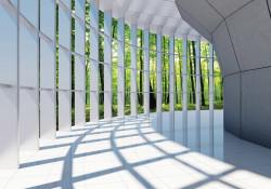 3D modern house hallway wall mural - 10057
