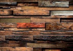 3D wooden beams effect wallpaper - 11916
