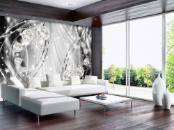 Art wall paper with contrasting colors - 10406