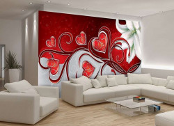 Deep red accents wallpaper -302