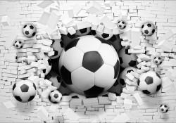 Football 3D effect wall mural - 3383