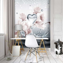 Love message floral wall mural - 10163A