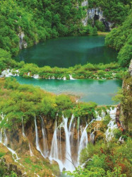 tropical place with waterfalls wall mural - 3601A