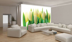 Tulip bouquet, dining room wall mural - 894