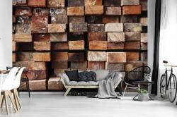 Wooden material 3d effect wallpaper - 13043