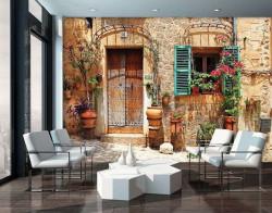 Colorful mediterranean patio wallpaper - 10388