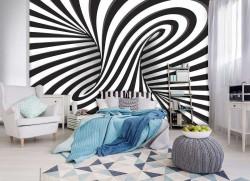 Hypnotic circle wall mural - 10204