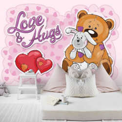 Love and hugs wall mural - 12801