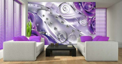 Pink accents, milky waves wall mural -2497