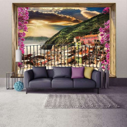 Sea view terrace in the summer wall mural - 11464