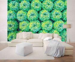 Strong green accent photowall - 12650