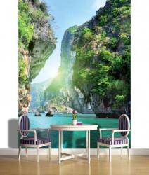 Tropical islands boat trip wallpaper - 137A