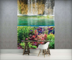 Underwater life and colored fish wall mural - 3226A