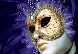 Venice carnival mask 3D photo wall - 408