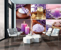 Zen collage with pink accents - 10451