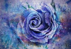 Blue rose art wallpaper - 13485