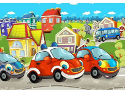 Cars, wall decal for kids - 12536