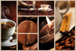 Coffee themed collage poster - C0456