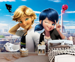 Marinette and Adrien, Miraculous Ladybug wall mural - 13654