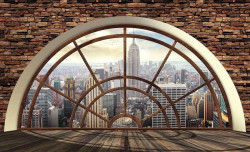 New York City view - window wall paper - 2397