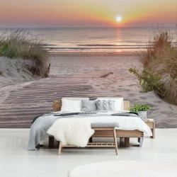 Sunset on a beach wall mural - 13048