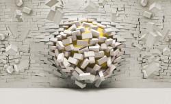 Destructing brick wall poster - 3007