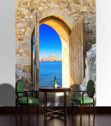 Door to the beach wall mural - 2131A