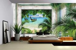 Fishing boat in the tropics - 1224