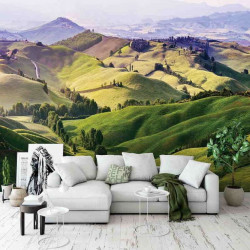 Green landscape in the country wall mural - 13459