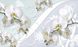 Milky blossom twigs bedroom wallpaper - 1206