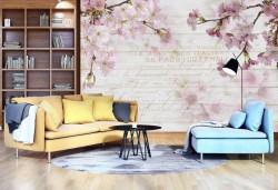 Spring season blossom twigs wall mural - 12064