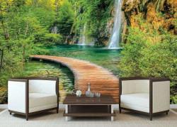 Zen garden waterfall and path wallpaper - 1967