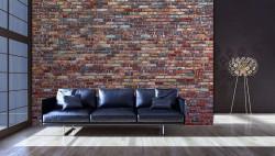 Brick wall wallpaper in soft colors - 11975