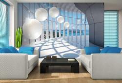 Futuristic wallpaper with bright colors - 10419