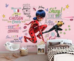miraculous ladybug and cat noir wall decor - 13655