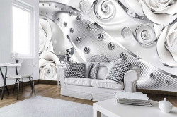 Shiny, milky waves wall mural - 2613