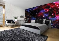 Stars in Cosmos dark wall mural - 2515