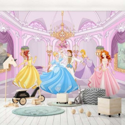 The princess in the ballroom, girl's room wall mural - 13237