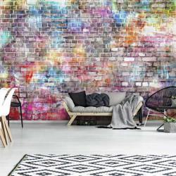 Colorful brick wall imitation wall decor - 13041