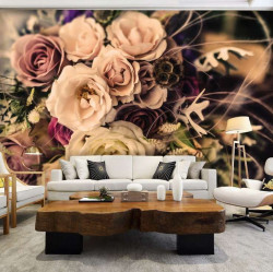 Faded photo effect floral wallpaper -12578
