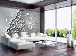 Modern art black and white poster image - 10231
