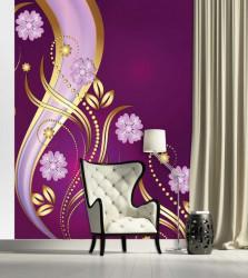 Tender design wall mural purple - 2135A