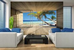 Terrace to a tropical beach - 3318