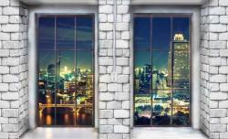 Brick and windows Wall Mural - 12983