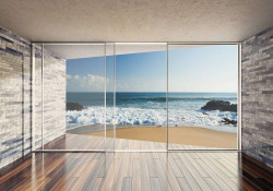 Ocean beach terrace wall mural - 3603