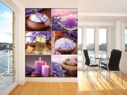 Salt, oils and candles living room zen wall mural - 10451A
