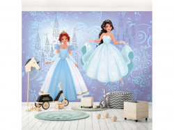 Tales of princesses, blue accents wall poster - 12527