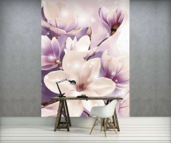 Tender floral photowall violet accents - 3506A
